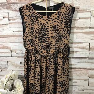 Vince Camuto Animal Print Dress Sz L (A28)